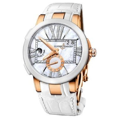 Ulysse Nardin Executive Dual Time Lady Rose Gold Watch 246-10/391