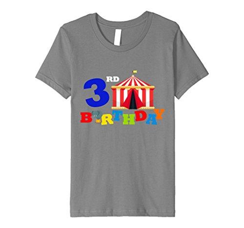 Kids Birthday Circus 3rd. Kids Children Funny T-shirt Balloons 4