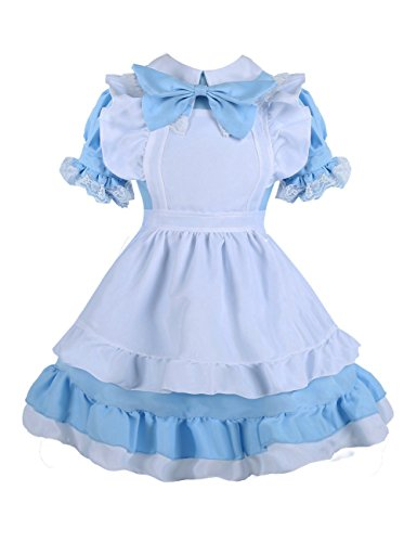 Colorful House Women's Cosplay Outfit Blue Dress Maid Fancy Dress Costume, Size XL