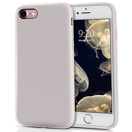 MILPROX Compatible iPhone 7, Compatible iPhone 8, Liquid Silicone with Microfiber Cloth iPhone 7 Case/iPhone 8 Case - Light Purple
