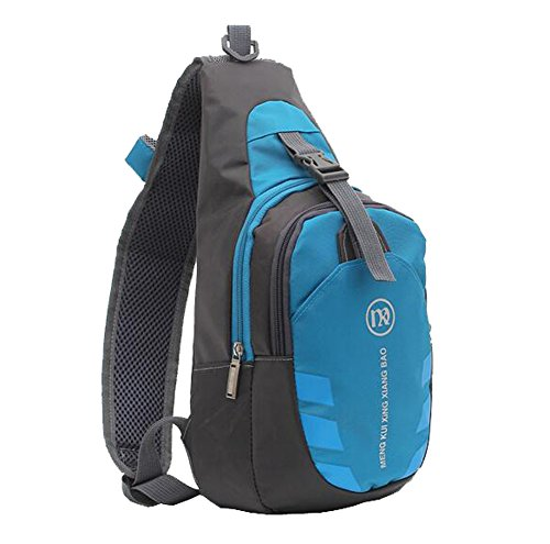 ISADENSER Sling Shoulder Crossbody Chest Bag Lightweight Hiking Travel Backpack Daypack (Blue) by ISADENSER