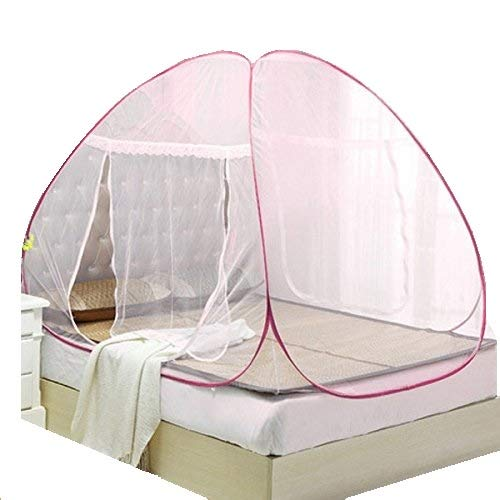 Cratos Double Bed Mosquito Net - Foldable - White Color (with Pink Border) (B07FX2ZD7W) Amazon Price History, Amazon Price Tracker