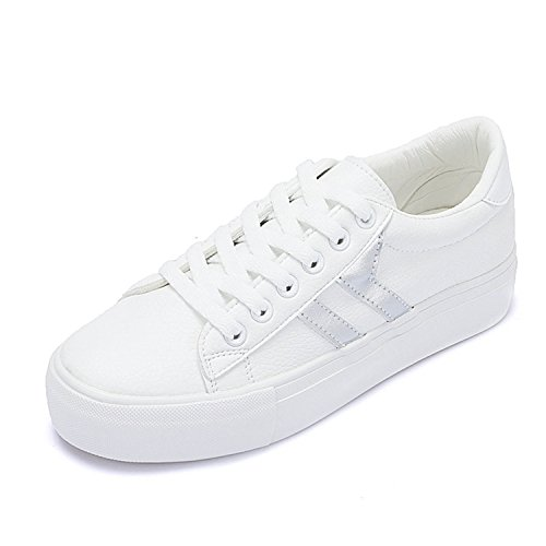 Sneakers Walking Better Women Annie Woman Lace Shoes Common Ladies New Fashion up White Shoes Spring Casual Silver17 Shoes Shoes Projects T6rwdx6