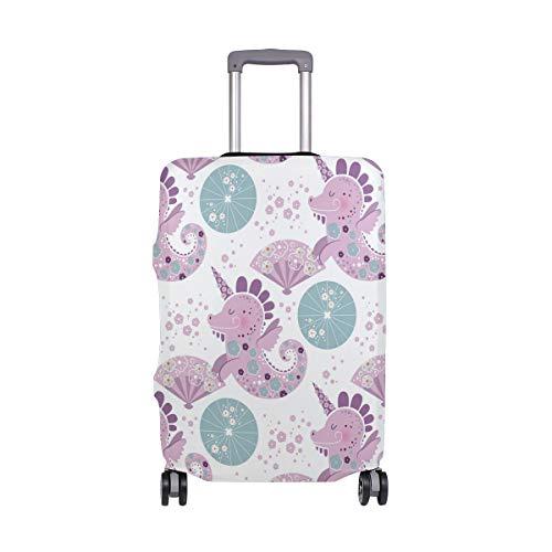 Mr.XZY Unicorn Seahorse Dinosaur Japanese Umbrella Plane Luggage Travel Suitcase Q Version Cartoon Protective Case Flexible cloth 2010128
