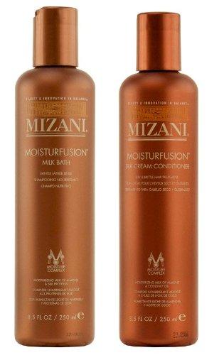 Mizani Moisturfusion Milk Bath Shampoo 8.5oz & Silk Cream Conditioner 8.5oz Set