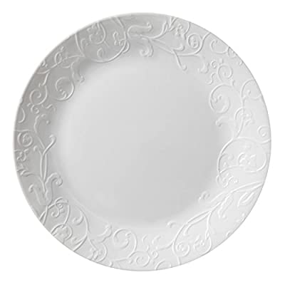"Corelle Embossed Bella Faenza 10.25"" Dinner Plate (Set of 8)"