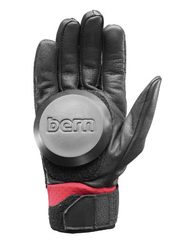 Bern Unlimited Leather Haight Longboard Glove, Red, Large/X-Large