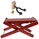 MonkeyJack Adjustable Guitar Practice Foot Rest Stool 4.5-7.5'' +1pcs Guitar Wall Hangers Mount Hook