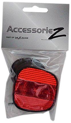 Accessoriez Rear Reflector/Seatpost - Black/Red
