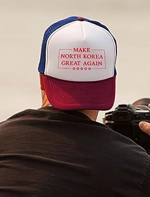 Tstars - Make North Korea Great Again Funny Trump Kim Trucker Hat Mesh Cap