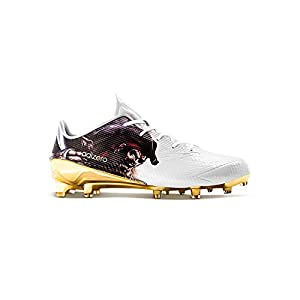 adidas Adizero 5Star 5.0 Mid Uncaged Mens Football Cleat 11.5 Pirate-White-Gold Metallic
