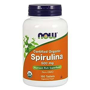 NOW Spirulina 500 mg,180 Tablets