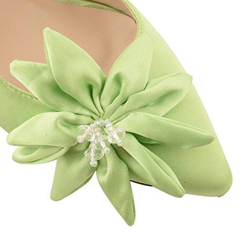 Footwear Sensation - Zapatos de vestir para mujer - Lime Satin