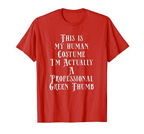 Mens My Human Costume Im A Professional Green Thumb Gardener Gift Small -