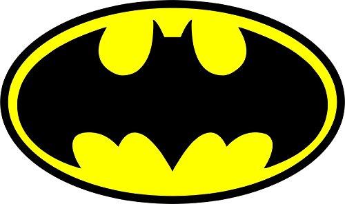 MAGNET Vinyl Diecut Batman Logo Yellow/Black Style Decal Vin
