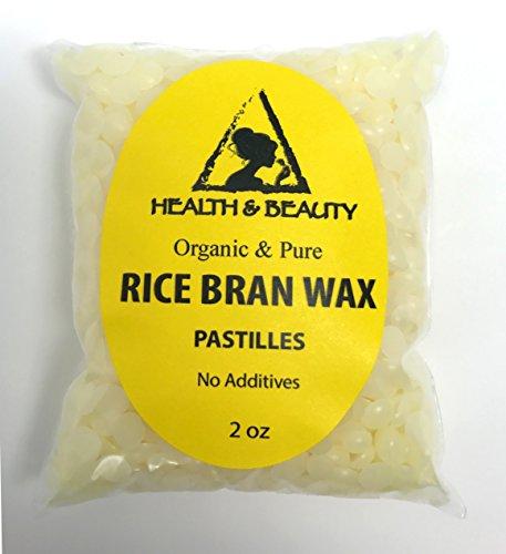 Rice Bran Wax Organic Vegan Beads Vegetable Pastilles Flakes Premium Prime Grade A 100% Pure 2 oz
