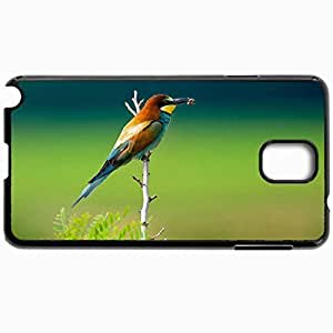 Customized Cellphone Case Back Cover For Samsung Galaxy Note 3, Protective Hardshell Case Personalized Bird With Catch In Its Beak Black