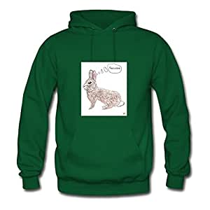 Green Off-the-record Fashionable Jackrabbit Hoody X-large Women Customized