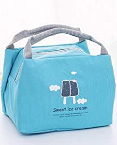 Rag & Sak Bento Pouch Lunch Bag Thermal Insulated Lunch Box Tote Cooler Bag sweet ice cream