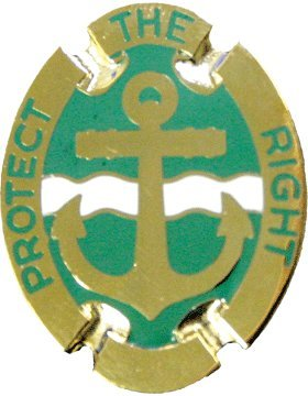 43rd Military Police Brigade Unit Crest (Protect The Right)
