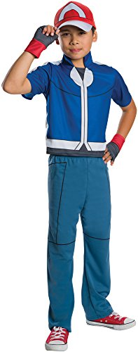 Easy Character Day Costumes (Rubie's Costume Pokemon Ash Deluxe Child Costume, Large)