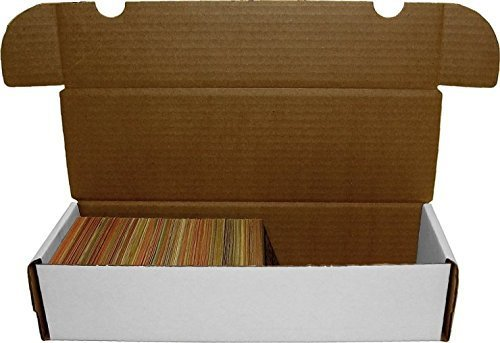 BCW 660 Count- Corrugated Cardboard Storage Box - Baseball, Football, Basketball, Hockey, Nascar, Sportscards, Gaming & Trading Cards Collecting Supplies (5 Boxes) ()