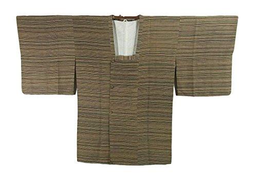 リサイクル 道行コート  横縞模様 正絹 裄63cm 身丈86cm