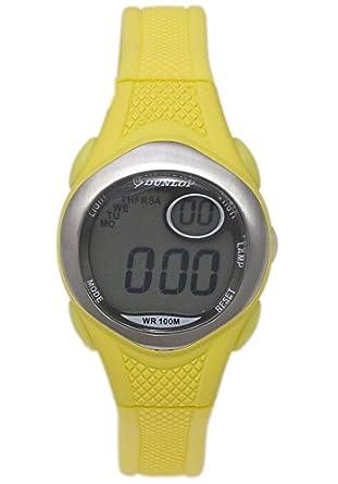 Dunlop Reloj Digital para Mujer de Automático con Correa en Caucho DUN177L10: Amazon.es: Relojes