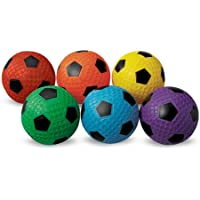 MAC-T PE07927E Dimple Soccer Balls, Assorted Colors, Set...