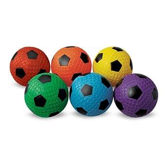 MAC-T PE07927E Dimple Soccer Balls, Assorted Colors, Set of 6