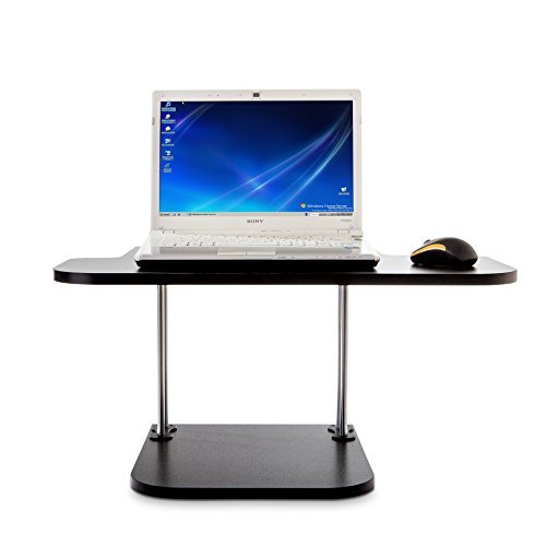 Standing & Sitting Adjustable Desk – Adjustable Height – For Laptop, Monitor, Keyboard & Mouse – Provides Workstation Surface – Very Easy To Assemble – Holds Up To 25lbs - Desk Stand Keyboard