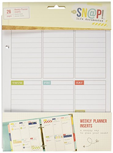 Cheap  Simple Stories Snap Life Plan Your Week 52 Weeks Double-Sided Inserts (26..