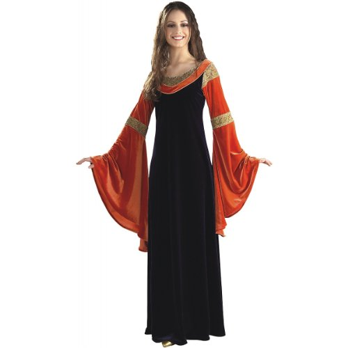 Arwen Dress Adult Costumes (Rubie's Costume Women's Lord Of The Rings Deluxe Arwen Dress, Multicolor, One Size)