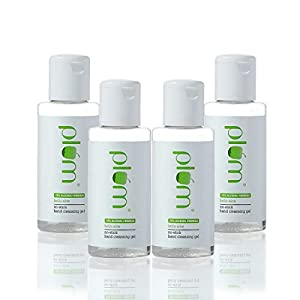 Plum Hello Aloe No-Stick Hand Cleansing Gel Sanitizer Pack of 4 | For All Skin Types | Non-Sticky Hand Cleanser | Light Weight Gel | Aloe Vera Juice | 100% Vegan