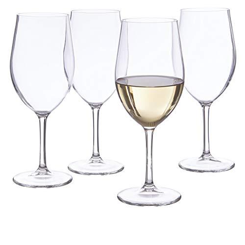 Blanc Plastic White Wine Stems | 13-1/2-ounce | set of 4