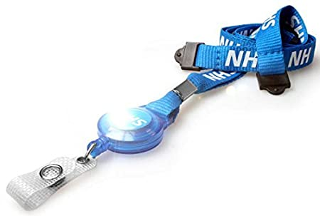 Customcard ltd Blue Printed NHS Double Breakaway Clip Strap Lanyard Metal Clip /& NHS Blue Holder For Your NHS Photo ID Card