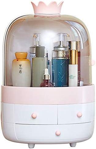 ZEZHE メイクアップオーガナイザー、引き出しタイプの化粧品収納ボックスホーム多機能ポータブルストレージボックスデスクトップストレージボックス (Color : Pink-a)