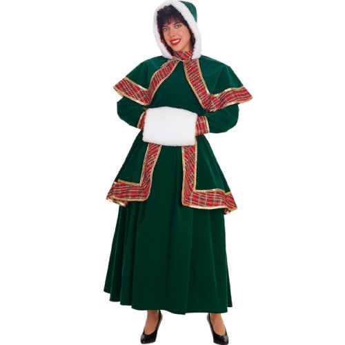 [Long Victorian Christmas Caroler Adult - Large] (Victorian Carolers Costumes)