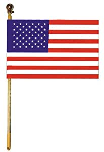 American Flag Applique and Embroidered House Flag