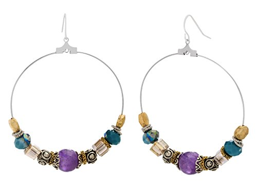 Lucite Beaded Earrings - 3