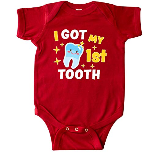 inktastic - I Got My 1st Tooth with Cute Infant Creeper 12 Months Red 3372f