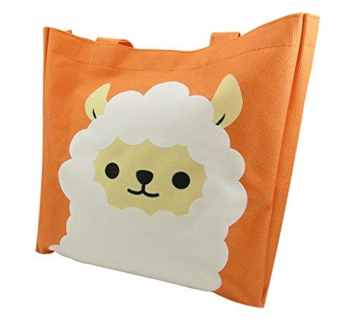 (Cute Alpaca Tote Bag Purse 10.75