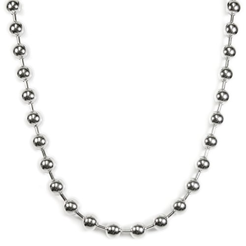 Stainless Steel Big Hollow Bead Chain Men Necklace 10mm 26