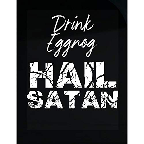 MESS Drink Eggnog Hail Satan - Transparent Sticker