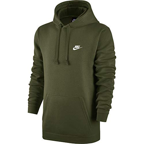 Nike Men's Club Fleece Pullover Hoodie (Olive Canvas, 4XL Tall)