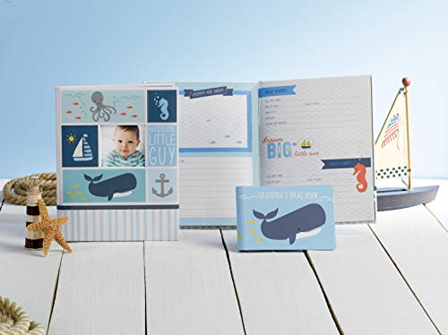 Carter's Blue Nautical My First Years Bound Memory Book for Baby Boys, 9'' W x 11.125'' H, 60 Pages by C.R. Gibson (Image #2)