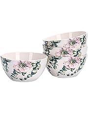 Bico Ceramic Cereal Bowls, Set of 4, for Pasta, Salad, Cereal, Soup & Microwave & Dishwasher Safe