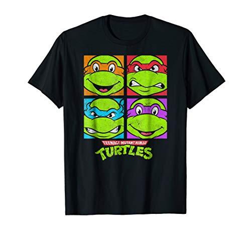 TMNT four faces T-shirt]()