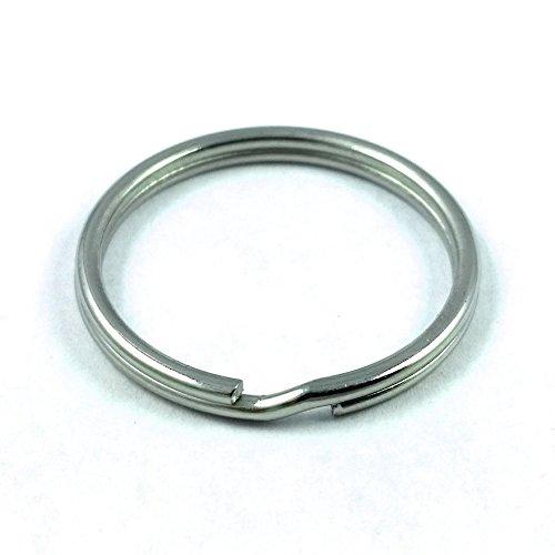 Moxx 25mm Stainless Steel Split Rings 1 Inch (50 Pcs) (25mm Split Ring)