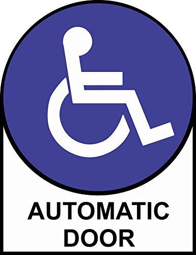 Amazon Com 5inx6 5in Handicap Automatic Door Sticker Vinyl Sign
